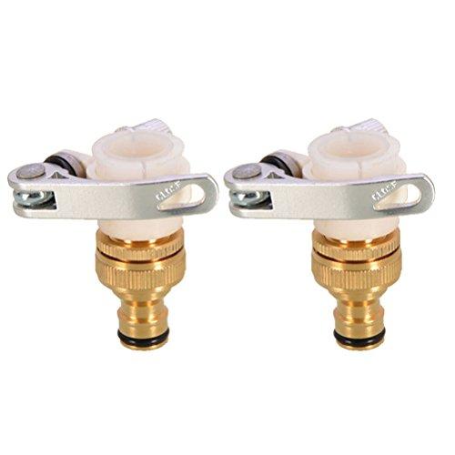 "Yardwe 2pcs 3/4"" or 1/2"" Garden Hose tap Connector tap Splitter for Washing Machine Kitchen Bathroom Basin Faucet (Style j)"