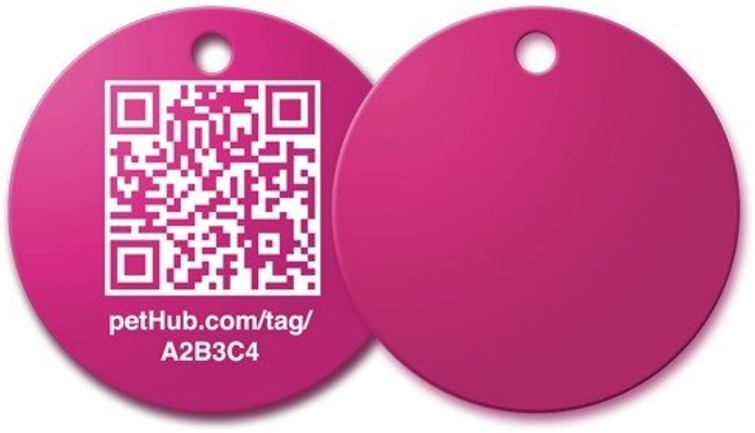 Barcode ID Tag  Pink, Sm