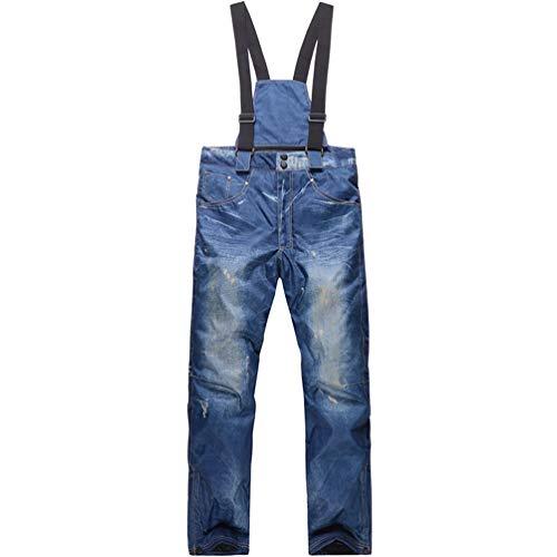 SHUIBIAN Pantalones de esquí y Snowboard Hombre, Impermeable, Resistente al Viento, Transpirable y cálido