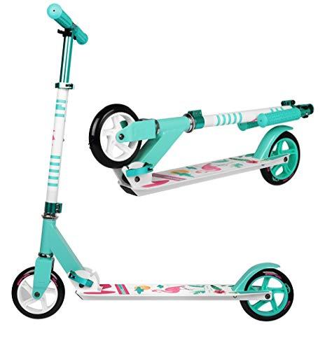 SportVida Patinete para niñas, plegable, ABEC 7, ruedas de poliuretano de 145 mm de diámetro