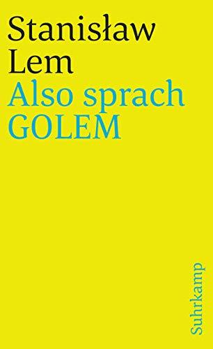 Also sprach GOLEM (suhrkamp taschenbuch)