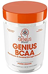 GENIUS Brand BCAA Powder with Focus & Energy