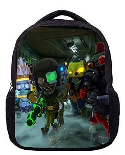 Augyuess Kinder 3-6 Jahre alt Game Plants vs. Zombies Rucksack Schultasche Daypack Büchertasche Schultertasche schwarz 13