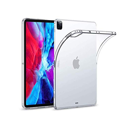 of tpu cases for ipads Clear Soft TPU Transparent Shockproof Cover,Compatible with iPad Pro12.9(2020),Flexible Soft Transparent Soft Shell Cover Slim-Fit Shell