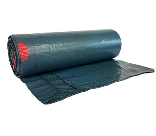 hocz 120 Liter Müllsack | 25 Stück | reißfest | mit Zugband | 25er Rolle | 1 Rolle | Typ 925 | Abfall-Säcke XXL Abfallbeutel Müllsäcke | Wandstärke 40 μ | LDPE |dunkelblau