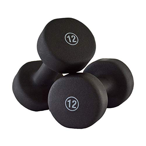 Dumbbell Weight Set, Solid Cast Iron Dumbbell, 1LB,3LB,4LB,5LB,6LB,7LB,8LB,10LB,12LB,15LB, Hex Rubber Barbell Set for Strength Core Training Fitness Equipment,12lb*2