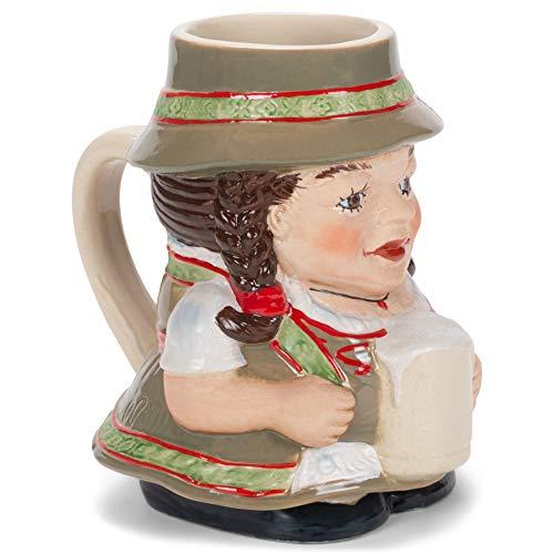 Bier Liesl Bayerische Frau, bunt, 61 ml, glänzende Keramik