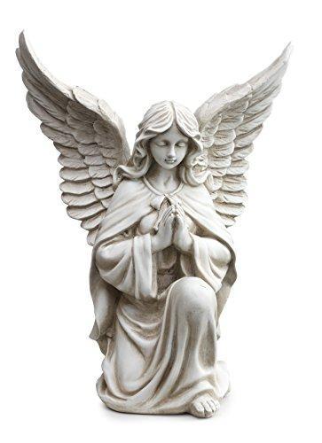 "Praying Angel in Kneeling Pose Garden Statue, 13.25"" - Napco 11299"