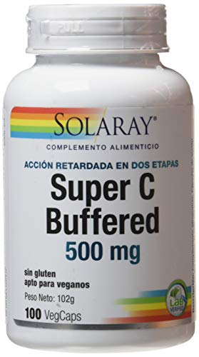 Solaray Super Bio C 1000mg   Acción Retardada   100 VegCaps