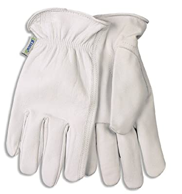 92w-M Women'S Medium Gray Goatskin Driver Gloves W/Keystone Thumb