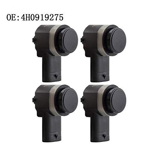 KEXQKN Preciso y Duradero, 4PCS for VW PDC Sensor de Aparcamiento A3 A4 A5 A6 A7 A8 Q3 Q5 Q7 R8 Campo de Polo 4H0919275 Duradero (Color : Black)
