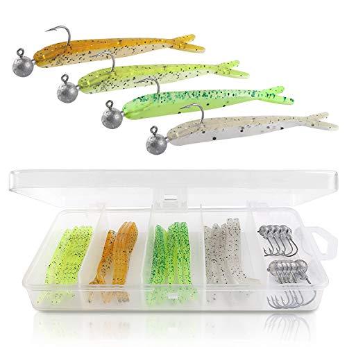 GGBuy Lot de 20 leurres de pêche en plastique souple...