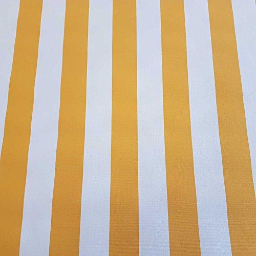 Stoff Meterware Markisenstoff Blockstreifen gelb weiß gestreift UV beständig Sichtschutz