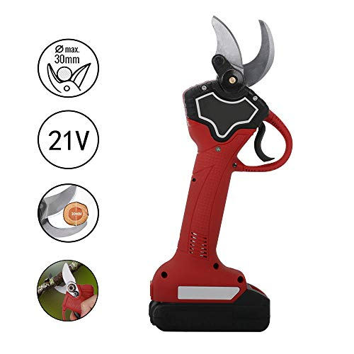 Purchase JIUNENG Lithium Battery Rechargeable Pruner Shear, 21V Wireless Electric Scissors Pruning S...