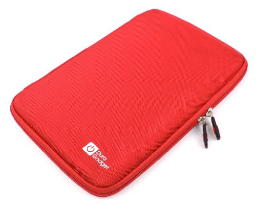 DURAGADGET Funda Rígida Roja para Tablet SPC Glow 10, SPC Glee 10.1 Quad Core - con Bolsillo De Red En Su Interior