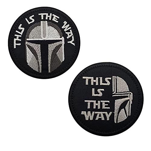 Patch militari 'This is the way', patch tattiche morale, toppe ricamate per zaino cappello gilet (C)