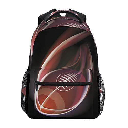 Rugby American Football Studentenrucksack Kinderrucksack Büchertasche Schülerrucksack mit Laptop Rucksäcke für die Reise Teen Mädchen Jungs