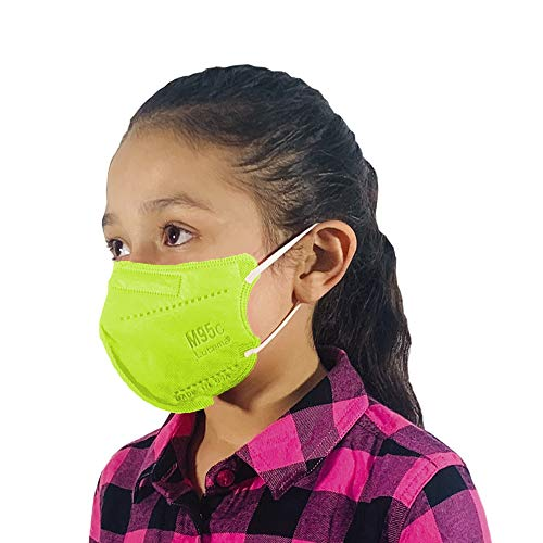 M95c Disposable 5-Layer Efficiency Protective Kids Face Mask Breathable Material and Comfortable Earloop Made in USA 20 Units