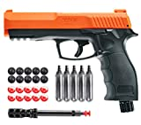 Wearable4U T4E by P2P HDP .50 Caliber Pepper Ball Air Pistol with Included 5X 12g CO2 Tanks and Free 10x Pepper Balls and 10x Rubber Balls Bundle