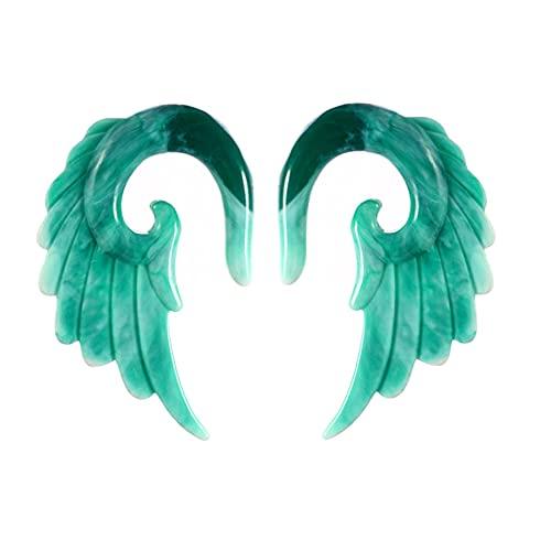 AIUIN 1 par Expansión del oído alas de Angel Dilatadores de Oreja Resina Estiramiento de Orejas 3-12 mm (5 mm,Estilo A)