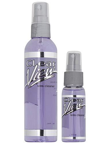 (Pack of 2) Clear View Premium AR-Coated Anti-Streak Anti-Static Lens Cleaner Spray