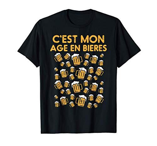 40 Ans Bières Anniversaire Drôle Birthday 40th Père Cadeau T-Shirt