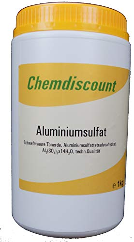 1kg Aluminiumsulfat, 17/18%, (Dünger, Flockmittel, Isoliersalz)