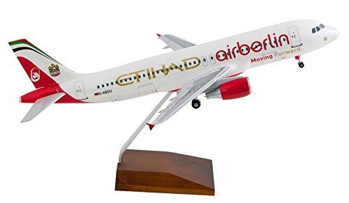 Air Berlin Airbus A320 mit Fahrwerk Sonderlackierung Etihad 1:100