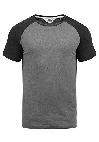 !Solid Bastian Herren T-Shirt Kurzarm Shirt Mit Rundhalsausschnitt, Größe:XXL, Farbe:Grey Melange (8236)