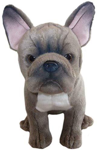 sawley fine arts Plüschhund, Motiv: Französische Bulldogge, 30,5 cm, Blau