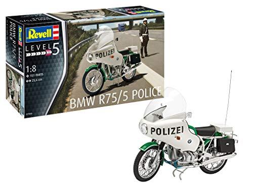 Revell REV-07940 BMW R75/5 Polizei Motorrad Toys, 1:8/25,6 cm, 1/8