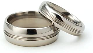 titanium wedding ring sets for him and her
