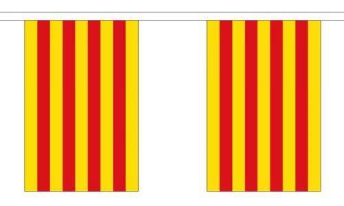 Wereld Vlag Winkel Catalonië Bunting 20 Vlaggen 6 Meter Catalaanse Banner