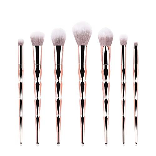 Huposdxjhzst Pinceaux Maquillages, 7pcs Maquillage pinceaux de Maquillage Feune Fondation Fondation Poudre Blush Shadow Ombre Ombre Lèvre Cosmétique for Maquillage Outils