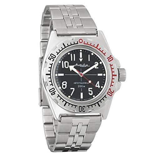 Vostok Amphibian 110647 orologio da polso originale russo militare subacqueo 2416B/2415 200 m auto carica orologio da polso