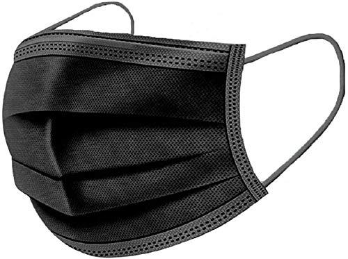 Disposable face Mack Black 3-ply Macks (50PCS)