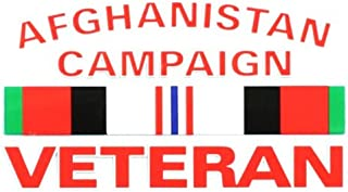 AFGHANISTAN CAMPAIGN VETERAN CAMPAIGN RIBBON OUTSIDE DECAL 3