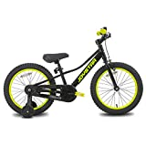 JOYSTAR 20 Inch Kids Bike with Training Wheels for 7 8 9 10 Years Old Boys 20' BMX Style Bicycles Cycle for Early Rider MTB Children Pedal Bike Black