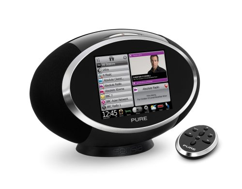 Pure Sensia Lautsprechersystem (DAB/DAB+/Stereo UKW-Radio, 14,5 cm (5,7 Zoll) Touchscreen, W-LAN, 30 Watt RMS) schwarz