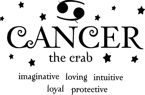 Cancer The Crab Horoscope Zodiac Vinyl Wall Art Decal Home Decor Sayings