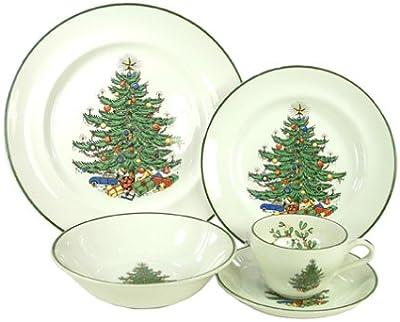 Amazon.com: Spode Christmas Tree 12-Piece Dinnerware Set