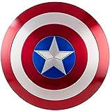 75 Aniversario Escudo de Vestuario de Capitán América Metal de Aluminio 60Cm 1:1 Avengers Escudo de Pared Retro Creativo,Accesorios de Mano de Superhéroe Cosplay de Halloween Para Adulto