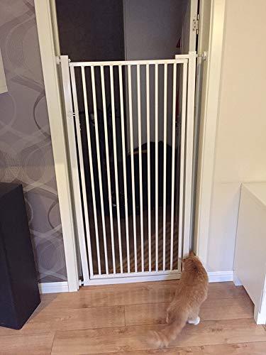 Barreras Seguridad Bebe Puerta Seguridad Niños Porta per gatti con montaggio a pressione, porte per bambini extra alte da 100 cm con porta attraverso la porta, per scale della porta di casa, 70-170 cm