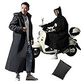 Imperméable Poncho scooter moto pour les hommes des femmes, extérieur imperméable au vent...