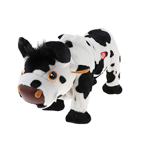 Flameer Electronic Plush Cow Walking Pets Musical Singing and Dancing, The Best Gifts for Toddlers, Kids and Children