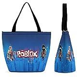 Roblo-x - Bolso de mano impermeable con cremallera para mujer, bolso de viaje, bolsa de hombro para la playa, bolsa de compras plegable, color Multicolor, talla Talla única