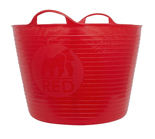 Tubtrugs Large 10 Tub, 10 Gallon, Red