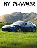 TOYOTA GT 86 Undated Quarterly Planner for Men: Custom interior to write in with to do lists, notes,log book, calendar. Perfect gift for  birthday or any occasion