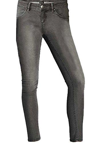 Esmara Damen Stretchhose Jeanshose Röhrenjeans Jeggingss Größe Wählbar (40, Grau)