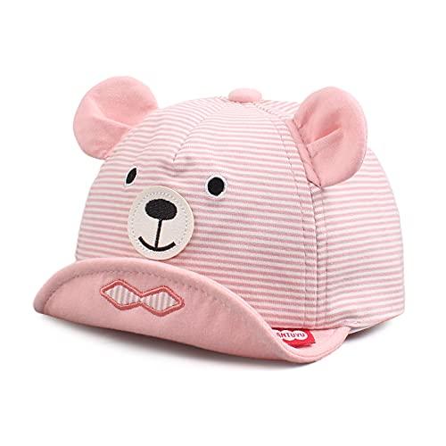 Pesaat Gorra de béisbol para bebés de 6 a 24 Meses Gorra de béisbol con protección UV (Rosa, 6-24 Meses)